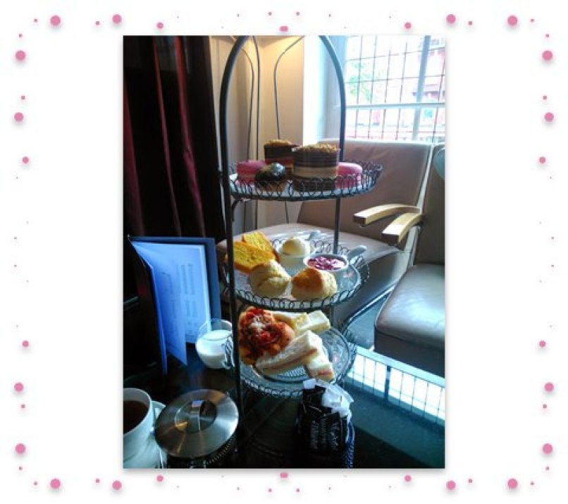 Afternoon tea image framed