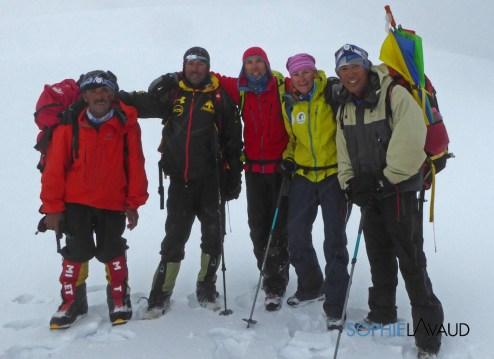 Yousf, Nazir, François, Sophie et Nima au col
