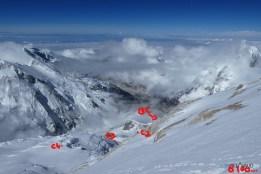 vue des camps depuis 8000m