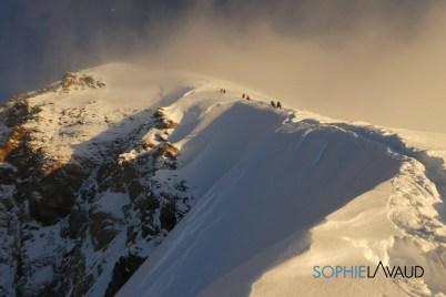 route vers le sommet après le bottleneck