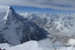 vue du Broad Peak depuis le sommet