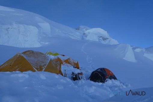 route vers le sommet depuis le camp 4