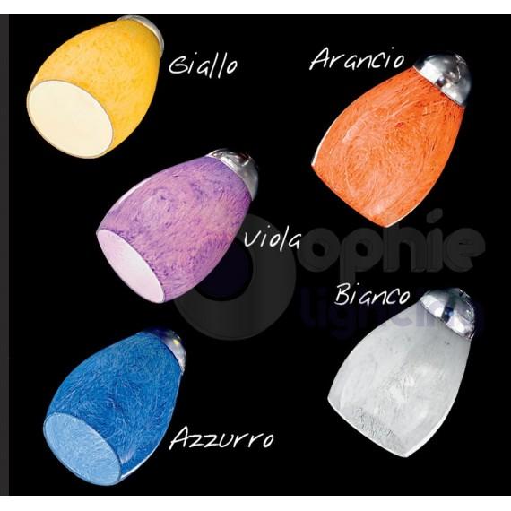Sospensione metallo paralume vetro colorato lampadario rustico e27 ambiente. Lampadario Moderno 3 Luci Design Vetri Colorati Acciaio Cromato Cuc