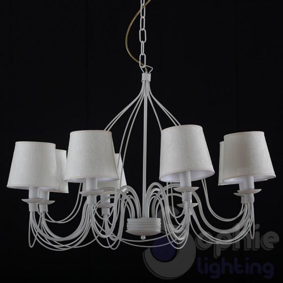 Applique moderna LED paralume cilindro bianco rame acciaio