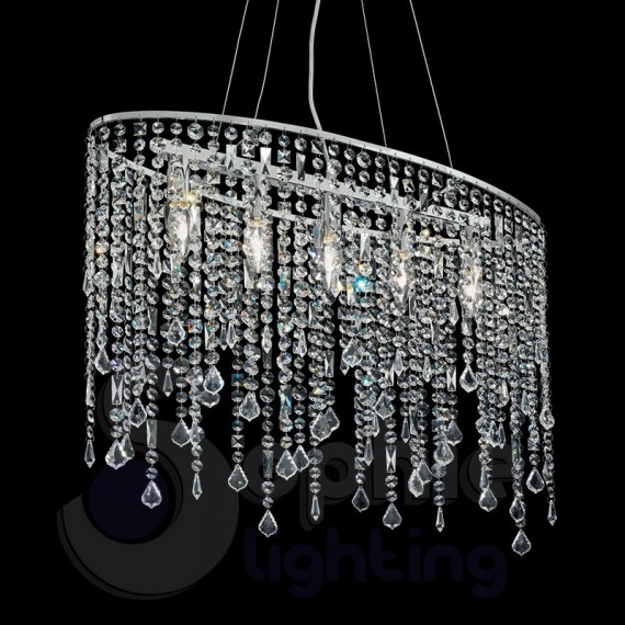 Rinnova i tuoi spazi con un lampadario moderno a sospensione firmato homcom. Lampadario Sospensione Cristalli Pendenti Rain Sp5