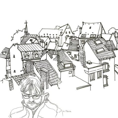 Vue des toits de Liège