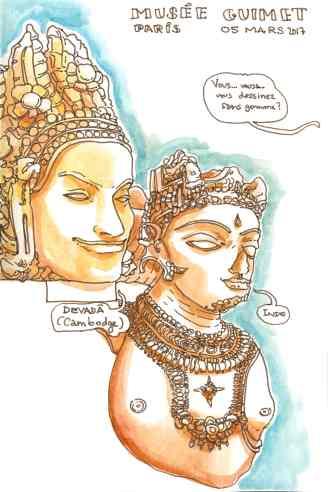 Musée Guimet statues Inde et Cambodge