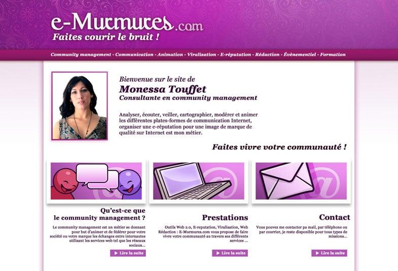 e-murmures.com homepage
