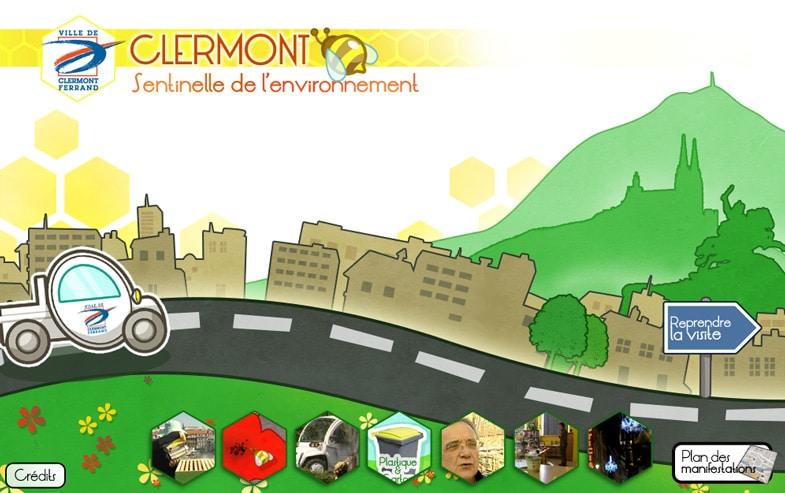 Ville de Clermont-Ferrand: accueil du site flash