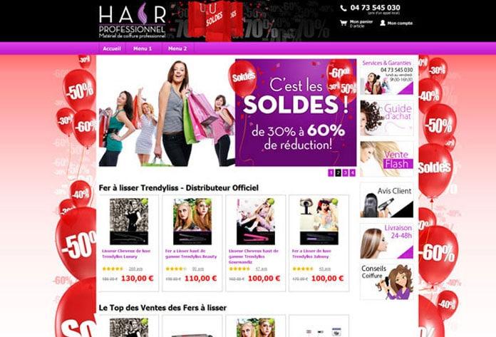 Hair Professionnel : site de vente en ligne de matériel de coiffure pro