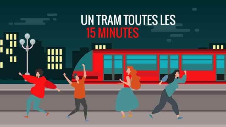 capture d'écran d'une animation publicitaire pour la société de transports en communs de Clermont-Ferrand