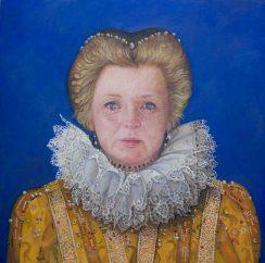 Kate Elizabeth, Oil on linen, 51x51cm. Available