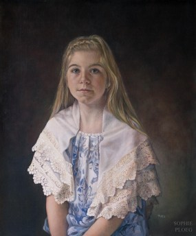 The Lacemaker, Oil on linen, 60x50cm. Sold