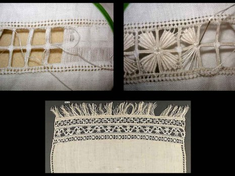 Early cut work lace