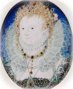 Hilliard, miniature of Elizabeth