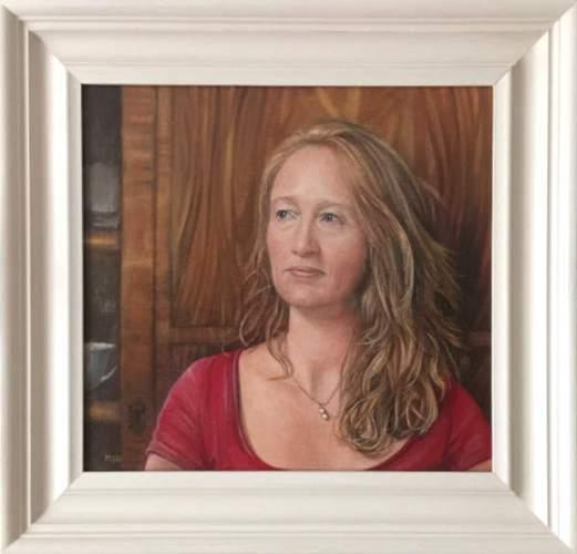 Sophie Ploeg, Nicola, oil on linen, 35x38cm. Commissioned