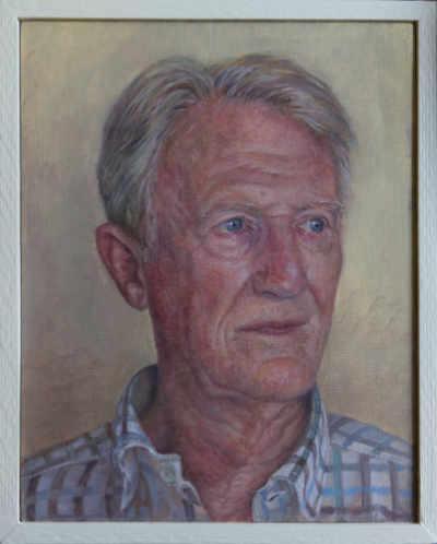 Sophie Ploeg, Portrait of a Man, 25x20cm. Commissioned
