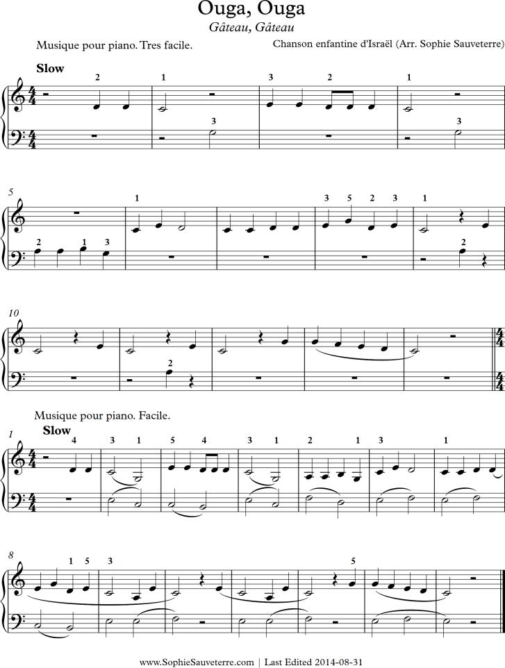 Ouga, Ouga Sheet Music for Piano