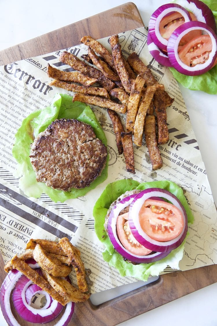 漢堡排 生菜漢堡 低碳薯條