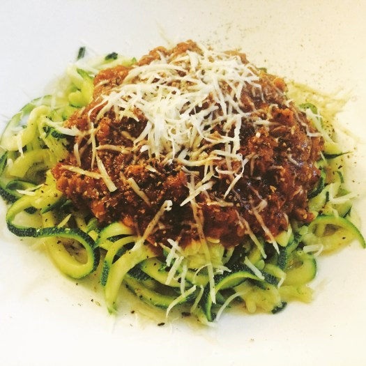 food blog recipe healthy courgetti bolognese