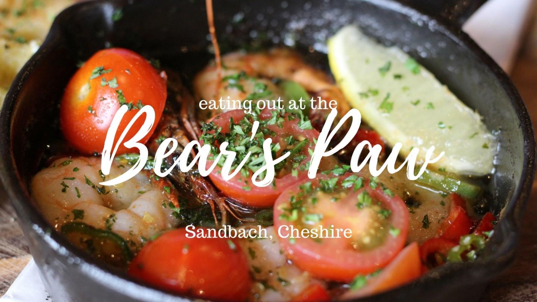 Eating out at The Bear's Paw, Sandbach