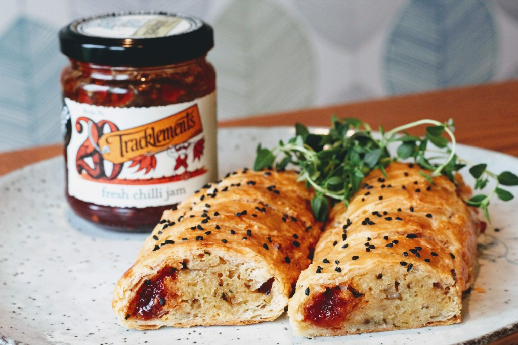 Chilli Jam and Cheese Rolls
