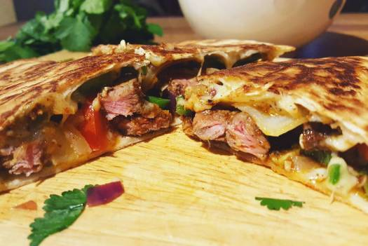 steak quesadilla recipe food blogger