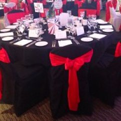 Black Chair Covers To Hire Lego Table With Storage And Chairs Cover Sash Bows Wedding Swagging Venue Cotton Fitted