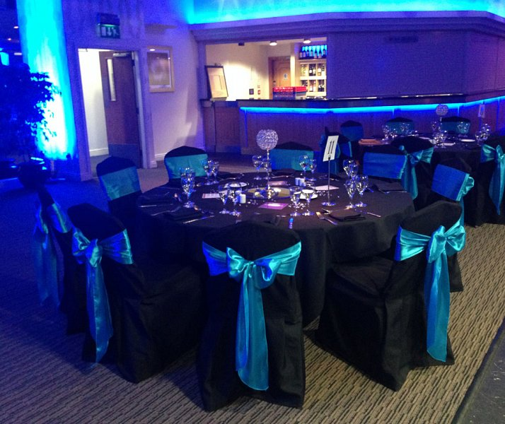 black chair covers to hire club chairs for living room cover sash bows wedding table swagging venue cotton fitted