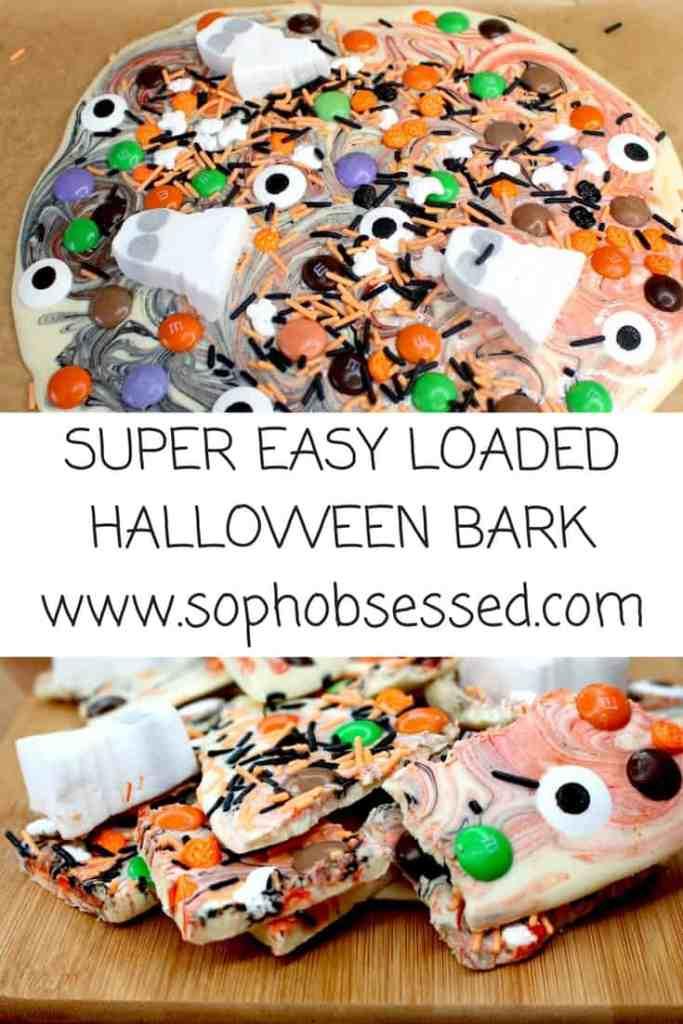 super easy loaded halloween bark