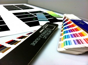 Print management includes quality control of the materials as they are coming off the printing press