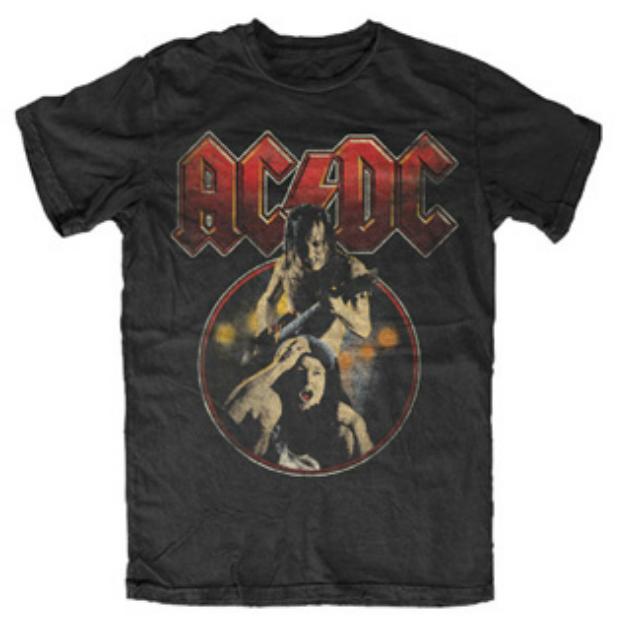 AD141 ACDC Angus Piggyback t shirt