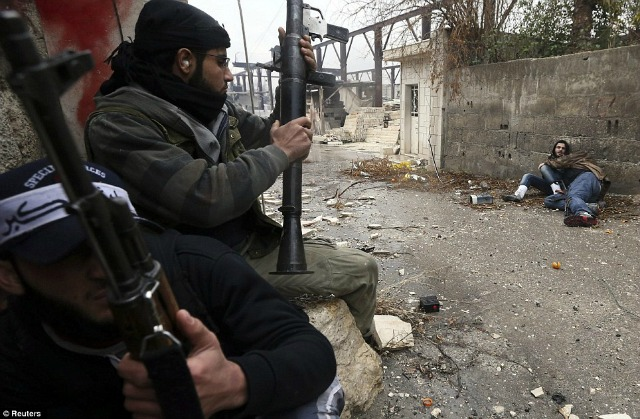 En las calles de Damasco, los lanzacohetes RPG son comunes.