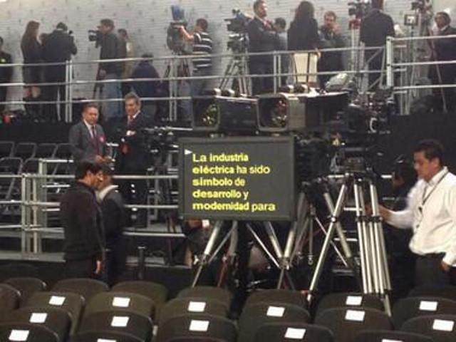 teleprompter informe de Gobierno