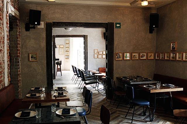interior del café Macondo de Puebla