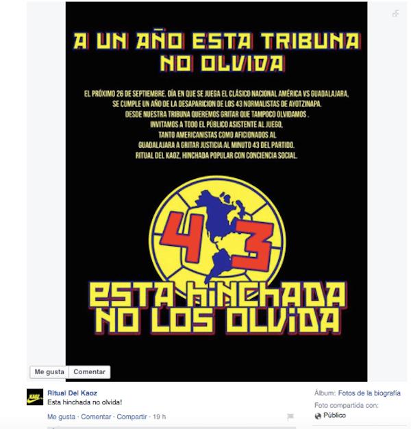RitualdelKaoz-America-Chivas-Ayotzinapa