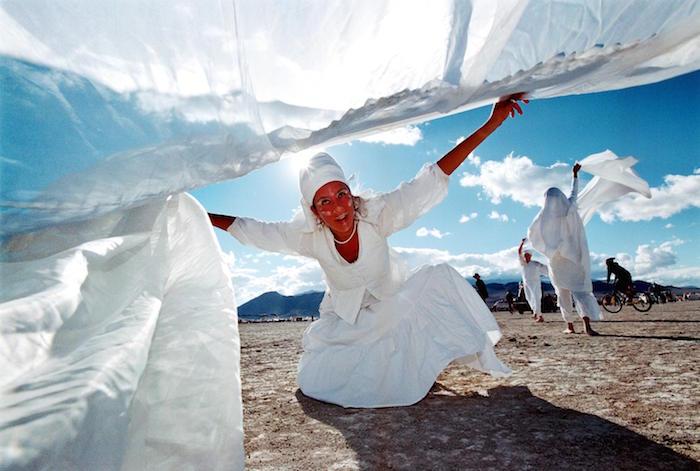 Burning Man Festival in Nevada Desert