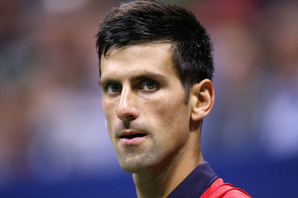 September 6, 2015 - Novak Djokovic looks on against Roberto Bautista Agut (not pictured) in a men's singles fourth-round match during the 2015 US Open at the USTA Billie Jean King National Tennis Center in Flushing, NY. (USTA/Ned Dishman)