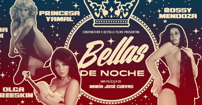 "Cartel promocional del documental ""Bellas de Noche"""