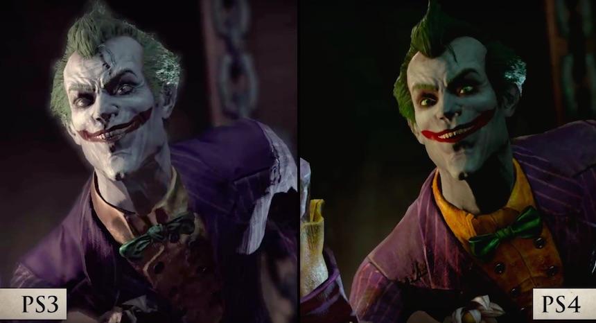 Batman: Arkham Return Comparación