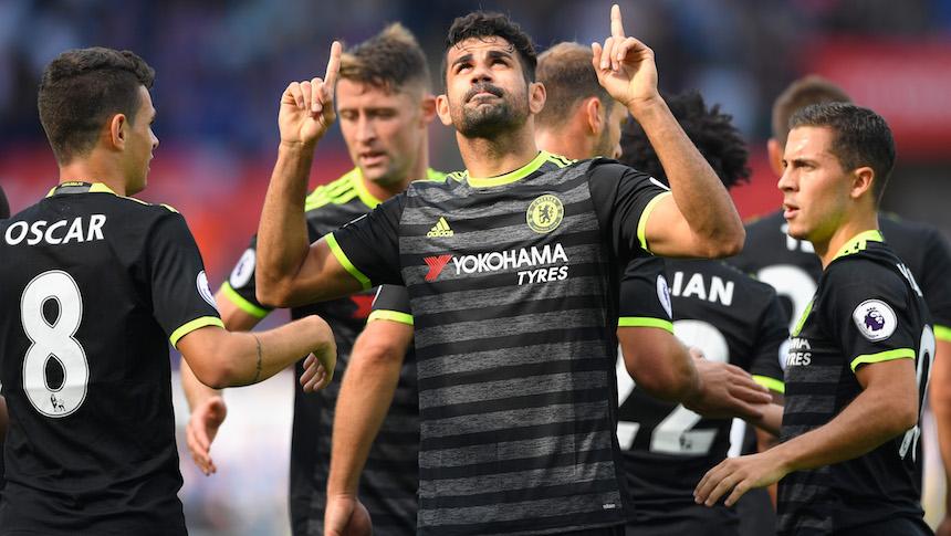 Diego Costa celebra su primer gol del partido