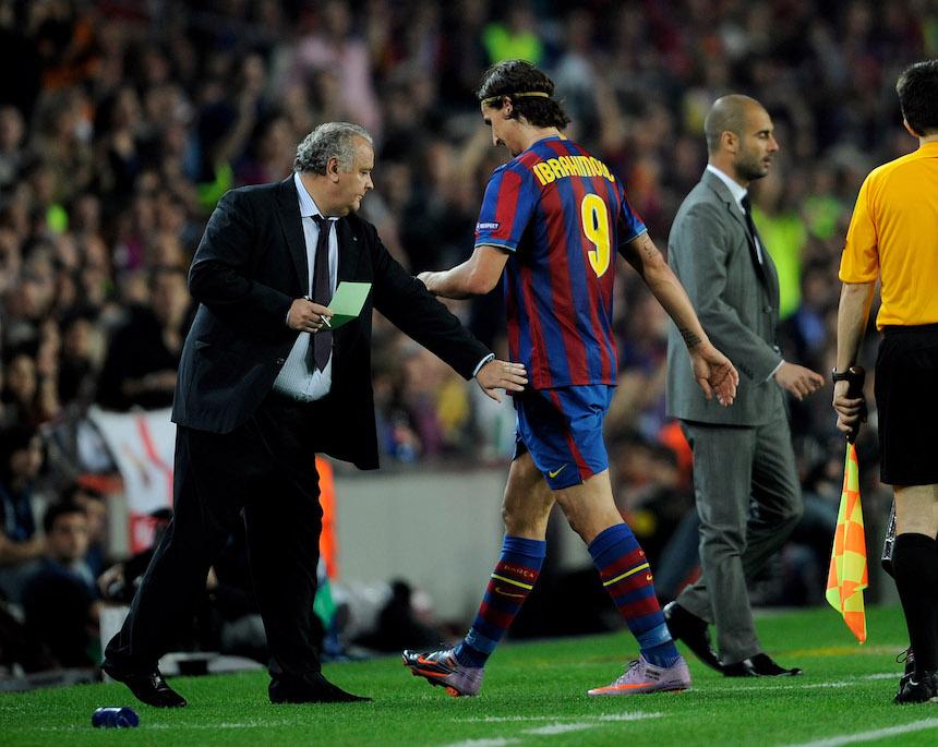 Ibrahimovic y Guardiola no tienen una buena relación