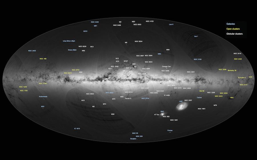 Imagen completa de la Vía Láctea