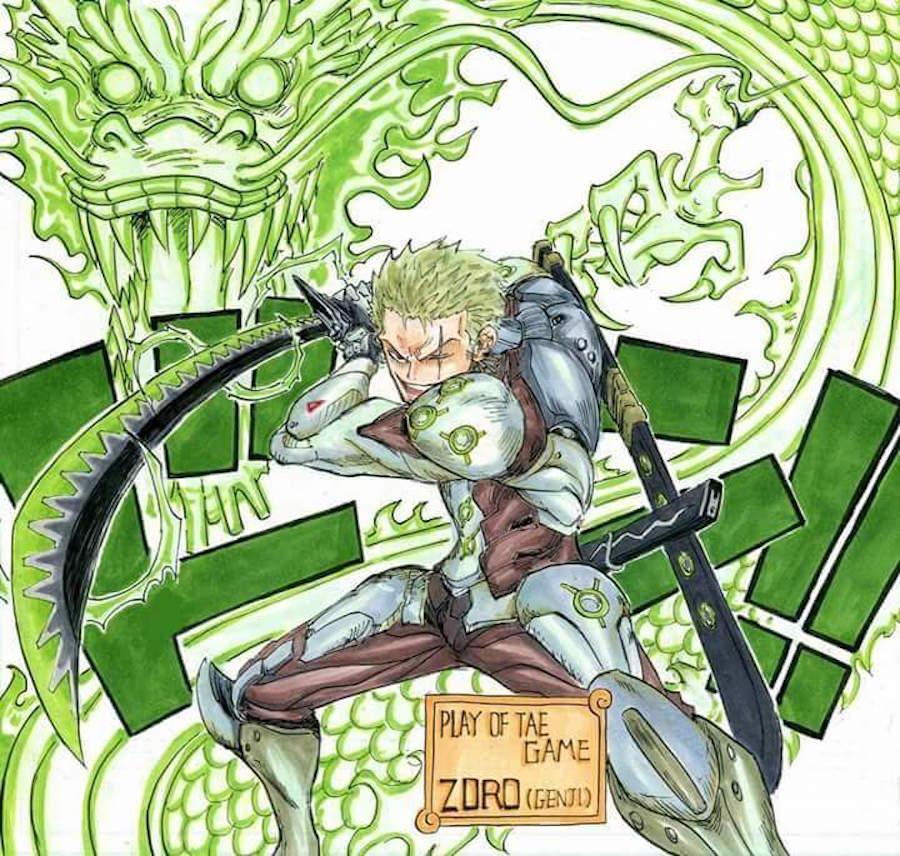 Zoro como Genji