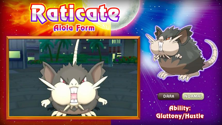 Raticate Alola Pokémon Sun/Moon