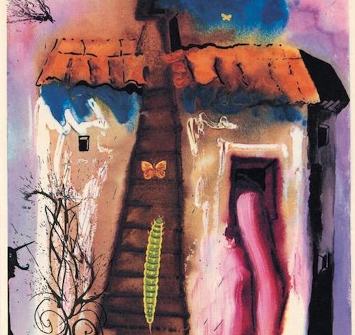Salvador Dalí ilustración de casa