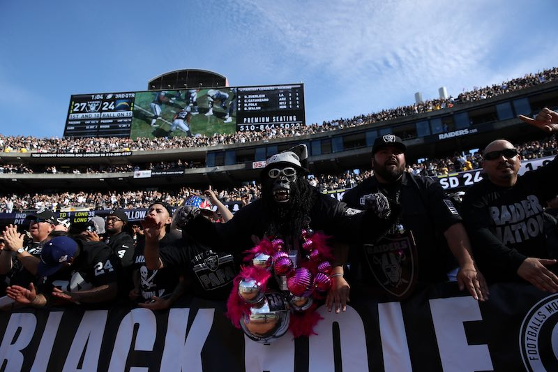 Afición Oakland Raiders