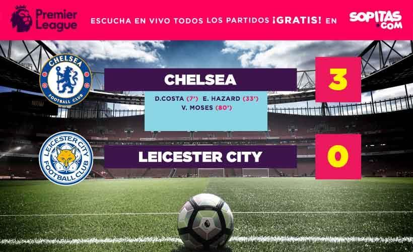 Chelsea venció sin ningún problema al Leicester City