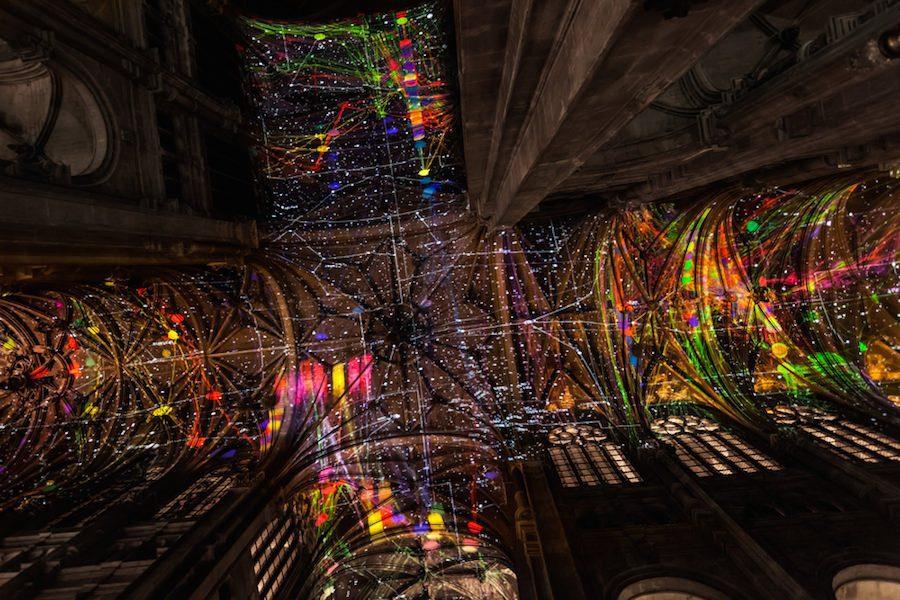 Espectáculo de colores de Miguel Chevalier