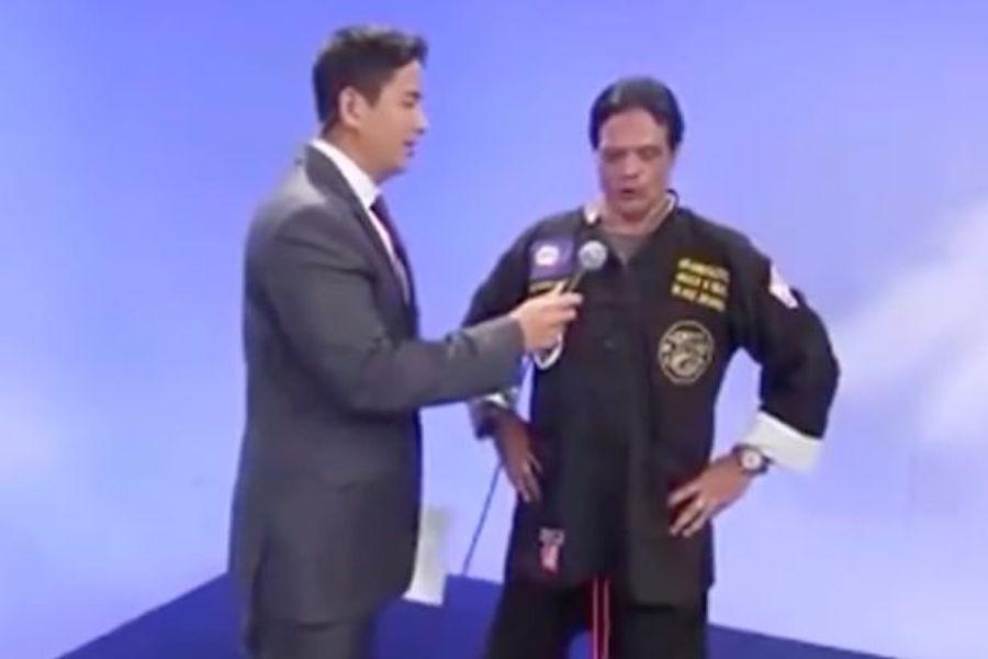 Karateka farsante después de ser descubierto